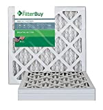 FilterBuy 14x14x1 MERV 13 Pleated AC Furnace Air Filter, (Pack of 4 Filters), 14x14x1 - Platinum