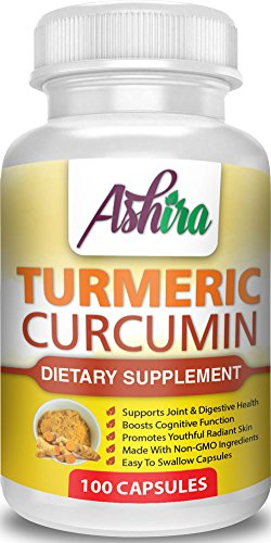 Turmeric Curcumin Supplement 400mg 100 Capsule | Premium Quality, Organic, Natural, High Potency, 95% Curcuminoids | Healthy Bioactive Compounds, Joints Pain Relief, Antioxidant & Anti-Inflammatory