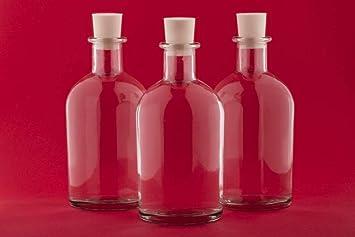 casa-vetro 12 o 24 Unidades, 100 ML Botellas de Cristal vacío New de