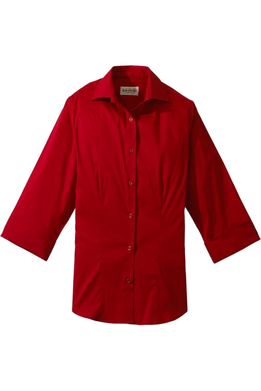 Ed Garments Women'S 5033 Button Down Shirt (Red M)