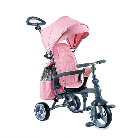 WYNZYYESTC Carro Plegable Para Bebés, Cochecito Portátil Para Bebé De Tres Ruedas El Bebé Puede Sentarse ...