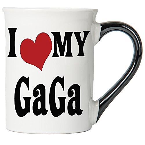 Cottage Creek Gaga Gifts Large 18 Ounce Ceramic I Love My Gaga Coffee/Grandma Gifts Gaga Mug [White]