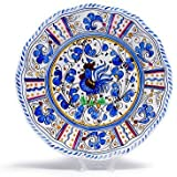 Le Cadeaux Rooster Blue - Melamine Dinner Plates - Set of 8