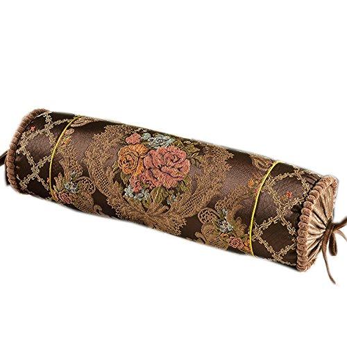 Cojín cilíndrico para sofá, color caramelo, almohada lavable ...