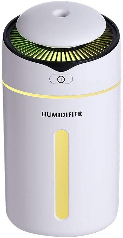 GREHED Cool Humidifier,300ml Warm and Cool Mist Ultrasonic Humidifier for Bedroom and Babies, Home, Germ Free and Whisper-Quiet