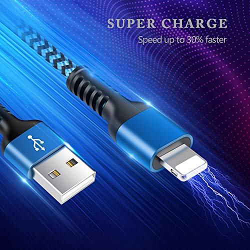 3//6//10ft iPad mini//2//3//4 iPod Touch Charger iPro Air2//3//4th gen Long Braided Cables Lighting Fast Charging Power Charger Cords for iPhone 11//11 Pro//11Pro Max//XS//XR//8//7//6S Plus iPhone Charger