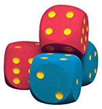 Volley W16CTD-BLUE Foam Coated Giant Dice, 6-1/4'' Size, Blue (Pack of 2)