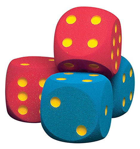 Volley W16CTD-RED Foam Coated Giant Dice, 6-1/4