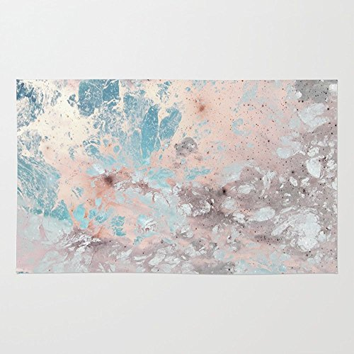 Pastel Acrylic Rug - Society6 Pastel Marble Texture Rug 4' x 6'