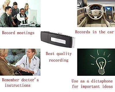 SpyGear-YUANDI Spy Voice Recorder-8GB USB Digital Audio Voice Recorder-Sound Recorder-Portable Recording Device-Dictaphone-Windows Mac Compatible - YUANDI