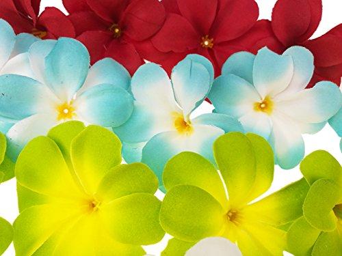 Winterworm-Pack-of-50-Mixed-Artificial-Silk-Flower-Plumeria-Frangipani-Heads-28-inch-for-Wedding-Garland-DIY-Jewelry-Accessories