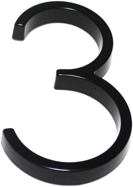 Schwimmende Hausnummer 0-9 Alphabet Haust/ürnummer Au/ßenanzeige 0,One Size
