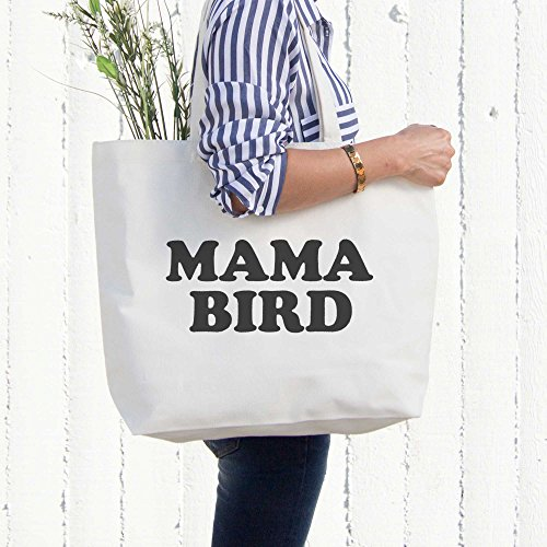 Mama Bird Canvas Bag Grocery Diaper Book Bags Gifts For Mom Mothers Day Gift by 365 In Love (Image #1)'
