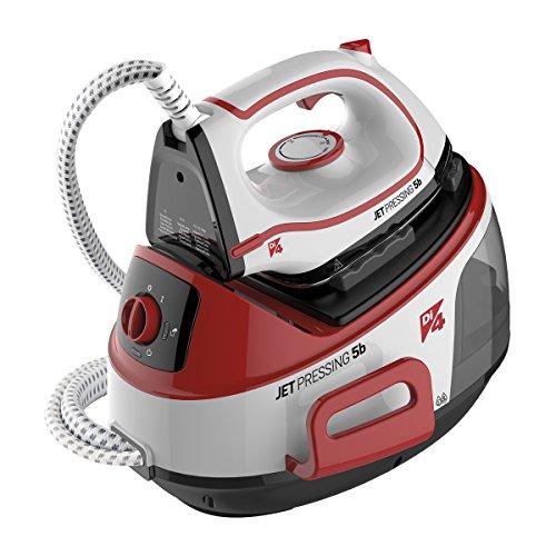 Di4Jet pressing 5B–Centre de repassage avec chaudière en acier inoxydable, 5bar, 2300W, couleur blanc, noir et rouge