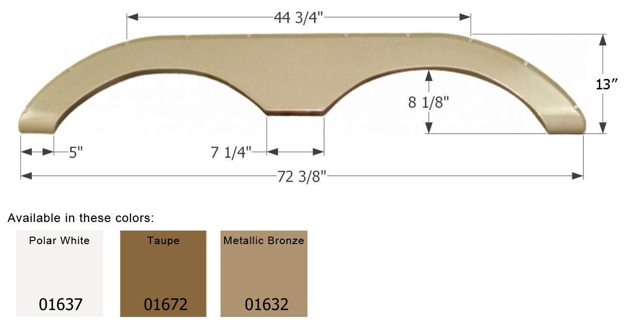ICON 01632 Tandem Axle Fender Skirt for Keystone-Metallic Bronze by ICON