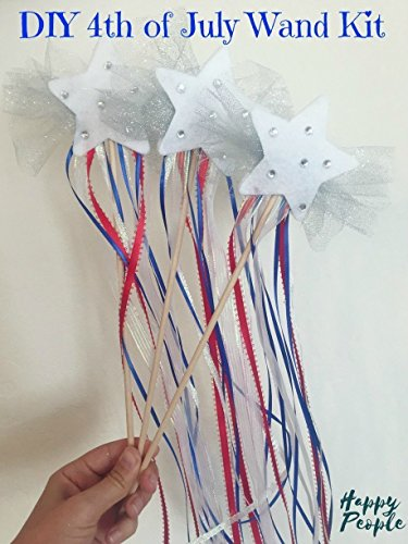 4th of July Magic Wand Kit, Kids Craft, Children's Activity from HappyPeople