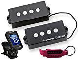 Seymour Duncan SPB-3 P-Bass Guitar Pickup Set with True Tune Tuner, Keychain 1402-06