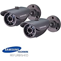 2 Packs of Samsung SDC-5440BC 600TVL Weatherproof Night Vision Camera without Cable (Manufacturer Refurbished)