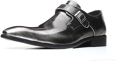 Chaussure Homme Cuir Derby Mariage Boucle Oxford Vernis Dressing Brogue Business Ville Vintage Affaires Mocassins Noir Rouge Marron Gris 38 48