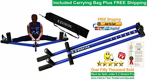 E-Z Stretch Pro with carrying bag Steel Leg Stretcher Met...
