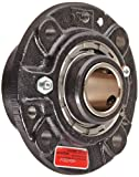 Link-Belt FCB22420H Spherical Roller Bearing Piloted Flange Unit, 4 Bolt Holes, Relubricatable, Non-Expansion, Cast Iron, Spring Locking Collar, Inch, 1-1/4'' Bore Diameter