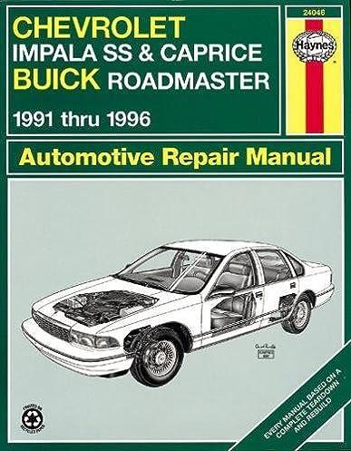 chevrolet impala ss buick roadmaster 91 96 haynes repair manuals rh amazon com 1991 chevy caprice classic owners manual 1991 Caprice Classic Lowrider