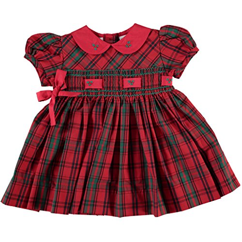 Red Smocked Dress - 3