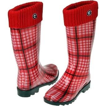 NCAA Georgia Bulldogs Ladies Rain Boots - Red (9/10)