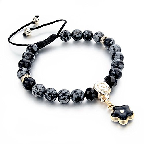 """Hot & Bold """"Natural Stones Edition"""" Gold Plated Charms Bracelet. Made with Certified Natural Stones"""