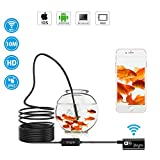 Wireless Endoscope Camera YEGU WiFi Borescope Inspection Camara 2.0 Megapixels HD Endoscope for Android and iOS,Smartphone,Pad,Tablet and Windows