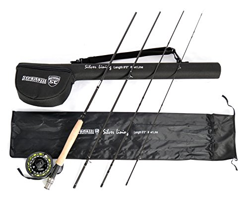 Stradalli Silver Lining 4 Wt, 9' Long, 4 Piece Fast Action Fly Fishing Rod 100% Carbon Fiber Billet Reel Combo by Stradalli (Image #9)