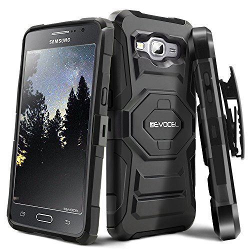 Cheap Holsters & Clips Evocel Galaxy Grand Prime [New Generation] Rugged Holster Dual Layer Case [Kickstand][Belt..