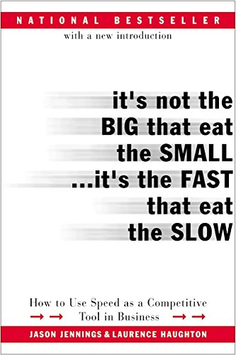 It's Not the Big That Eat the Small...It's the Fast That Eat the Slow: How to Use Speed as a Compe