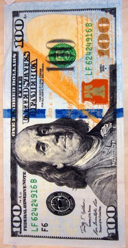 100 Dollar Bill - New 100 dollar bill velour brazilian beach towel 30x60 inches