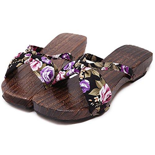 hibote Mädchen der Frauen Holzschuh Flops Schuhe Flip #Xier H2