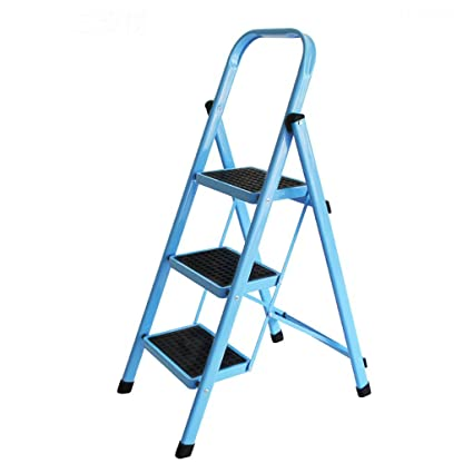 Amazon Com Blue Foldable Ladders Aluminum High Climbing Step Stool