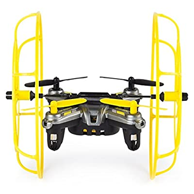 Air Hogs - Hyper Stunt Drone - Unstoppable Micro RC Drone - Yellow: Toys & Games