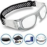Ponosoon Sports Goggles for Basketball Football Volleyball Hockey Paintball Lacrosse 1809(transparent Gray)