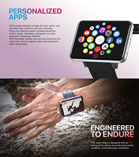 4G Smart Watch 2.86 Inch Screen Android 7.1 3GB+32GB 5MP Camera 2700mAh Battery Smartwatch for Men
