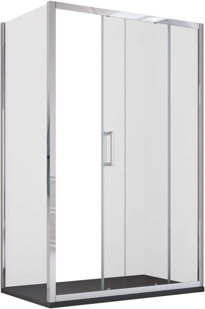 Olimpo duchas ede-70 X 140 ducha con lado fijo 6 mm Reversible anti gota Cal deslizante, transparente, juego de 2 piezas: Amazon.es: Bricolaje y herramientas