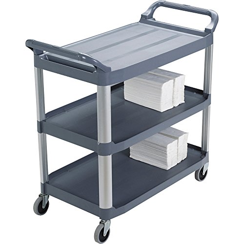 Rubbermaid 409100 Mobile Utility Cart,300 lb. Cap,40-3/5-Inch x20-Inch x37-4/5-Inch,Gray