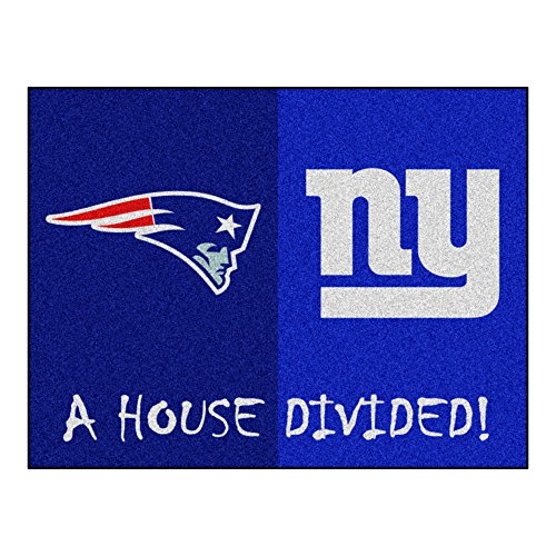 NFL House Divided - Patriots/Giants Rug, 34