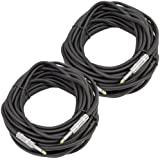 Seismic Audio - Pair of 50 Feet 1/4 to 1/4 Pro Audio Speaker Cables 14 Gauge - Heavy Duty