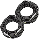 Seismic Audio - Pair of 50 Feet 1/4'' to 1/4 Pro Audio Speaker Cables 14 Gauge - Heavy Duty