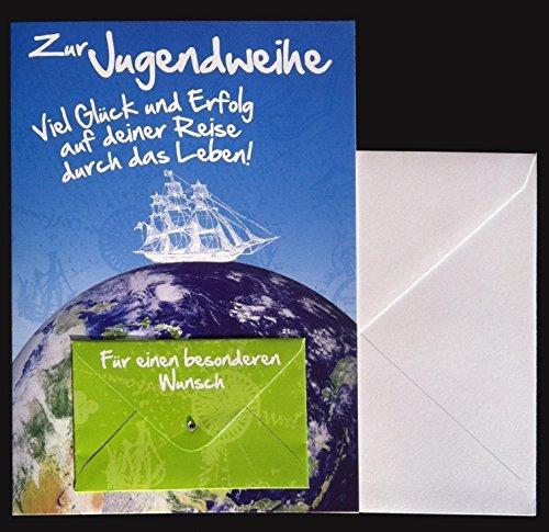 Jugendweihe Karte Schreiben.Depesche Glückwunschkarte Zur Jugendweihe Karte Geldgeschenk