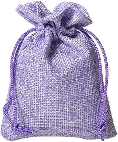 Wahdawn 50pcs Aspiradora Bolsita Saco Cordón Bolsas De Regalo 4 X 6 Tela Púrpura 4x6 Arte Manualidades Y Costura