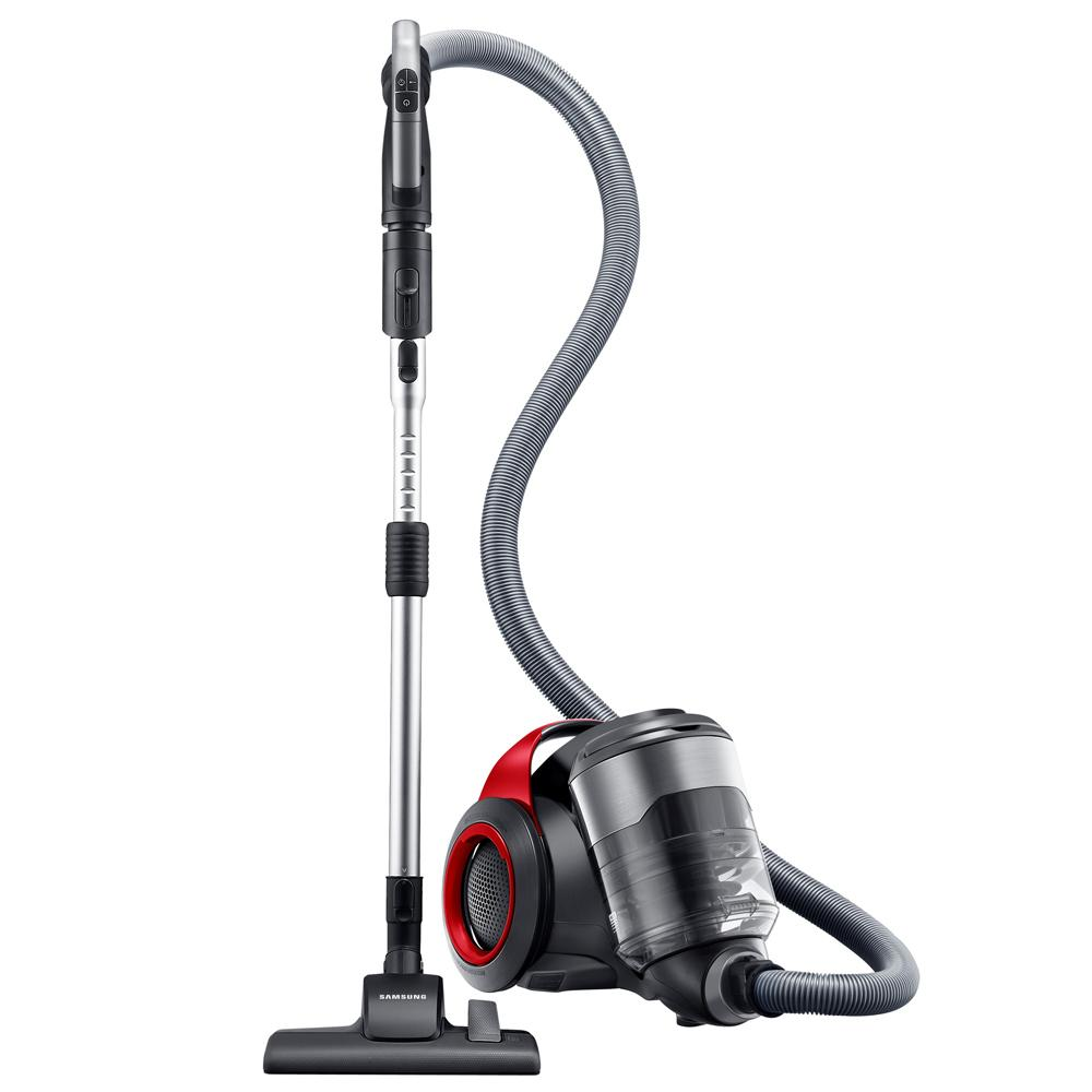 samsung vacuum samsung motionsync bagless canister vacuum with superior swivel steering for