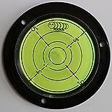 Flanged Circular Angle Large Spirit Bubble Level (Green Liquid) 80mm Diameter with Degree Marking - Surface Level, Bulls Eye Bullseye Round