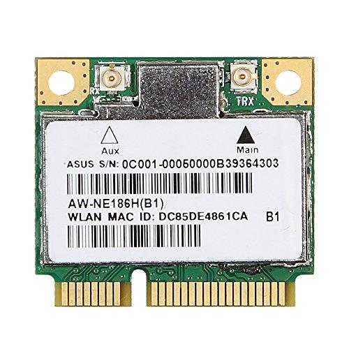 Atheros AR5B125 Mini PCI-E 802.11BGN Wireless WiFi Card AW-NE186H not for IBM/Lenovo/Thinkpad and HP ()