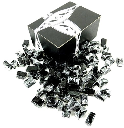 Gustaf's Licorice Caramels, 2 lb Bag in a BlackTie Box